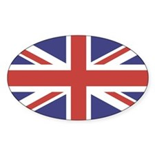 UNION JACK UK BRITISH FLAG Oval Decal