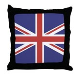 UNION JACK UK BRITISH FLAG Throw Pillow