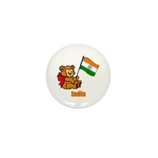 India Teddy Bear Mini Button (100 pack)