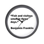Benjamin Franklin Visitors Quote Wall Clock