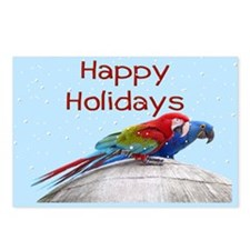 Snowy Macaws Holiday Postcards (Package of 8)