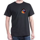 Rainbow Lory Holiday Black T-Shirt