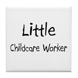 Little Childcare Worker Tile Coaster