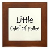 Little Chief Of Police Framed Tile