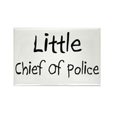 Little Chief Of Police Rectangle Magnet (10 pack)