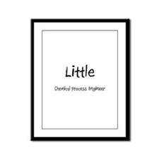 Little Chemical Process Engineer Framed Panel Prin