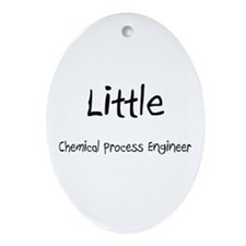 Little Chemical Process Engineer Oval Ornament