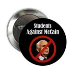Students Against McCain campaign button