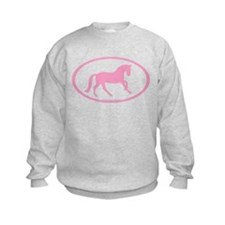 Pink Canter Horse Oval Sweatshirt