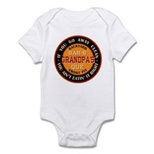 Grandpa's Backyard Bar-b-que Pit Infant Bodysuit
