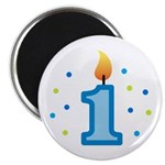 First Birthday - Candle (Boy) Magnet