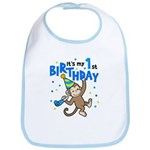 First Birthday - Monkey Bib