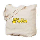 Retro Talia (Gold) Tote Bag