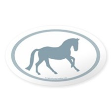 Canter Horse Oval (slate blue) Oval Decal