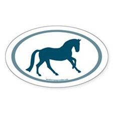Canter Horse Oval (slate blue)Oval Sticker (10 pk)