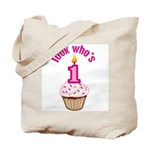 First Birthday - Cupcake (Girl) Tote Bag