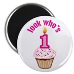 First Birthday - Cupcake (Girl) Magnet