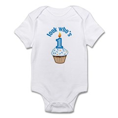 First Birthday - Cupcake (Boy) Infant Bodysuit