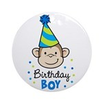 Birthday Boy - Monkey Ornament (Round)