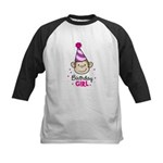 Birthday Girl - Monkey Kids Baseball Jersey