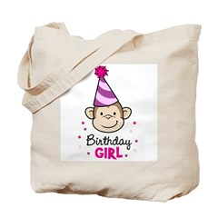 Birthday Girl - Monkey Tote Bag