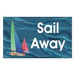 TOP Sail Away Sticker (Rectangle 10 pk)