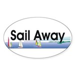 TOP Sail Away Sticker (Oval 10 pk)