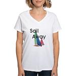 TOP Sail Away Women's V-Neck T-Shirt