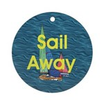 TOP Sail Away Ornament (Round)