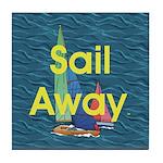 TOP Sail Away Tile Coaster