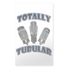 Totally Tubular Rectangle Decal
