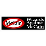 Wizards Against McCain bumper sticker