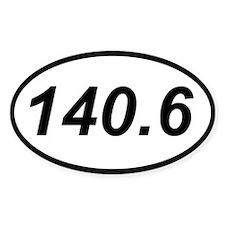 140.6 triathlon sticker (oval)