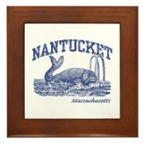 Nantucket Massachusetts Framed Tile