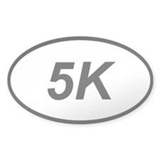 5k run running sticker (oval)