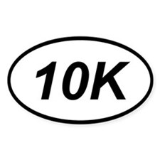 10k running sticker (oval)