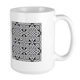 Mug Celtic Knot Black/White2