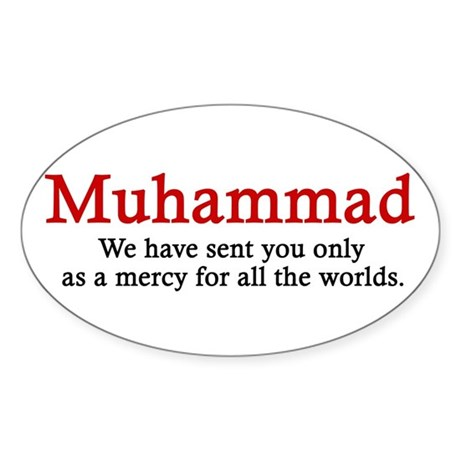 Muhammad Oval Sticker