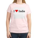I Love Indie Women's Pink T-Shirt