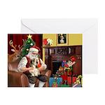 Santa's Petit Basset Greeting Cards (Pk of 10)
