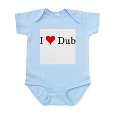 I Love Dub Infant Creeper