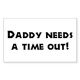 Fun Gifts for Dad Rectangle Decal