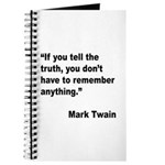 Mark Twain Truth Quote Journal