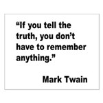 Mark Twain Truth Quote Small Poster