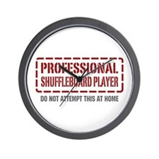 Professional Shuffleboard Player Wall Clock