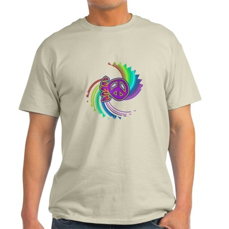 Rainbow Spin Peace Light T-Shirt