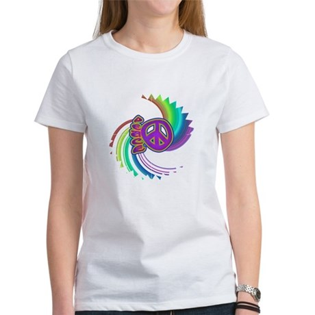 Rainbow Spin Peace Women's T-Shirt