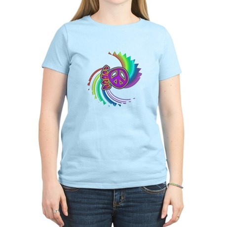 Rainbow Spin Peace Women's Light T-Shirt
