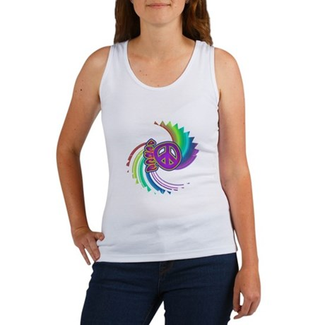 Rainbow Spin Peace Women's Tank Top