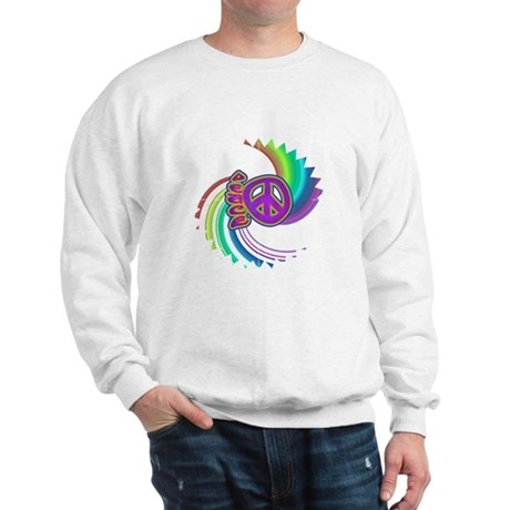Rainbow Spin Peace Sweatshirt